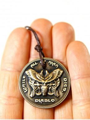 Colgante Diablo moneda