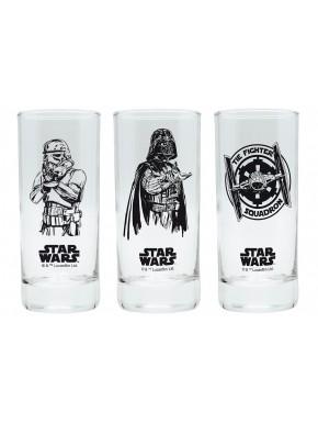 Pack tres vasos cristal Star Wars Imperio