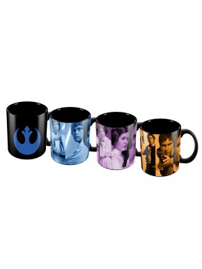Set 4 mini tazas Star Wars Rebeldes