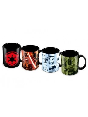 Set 4 mini tazas Star Wars Imperio