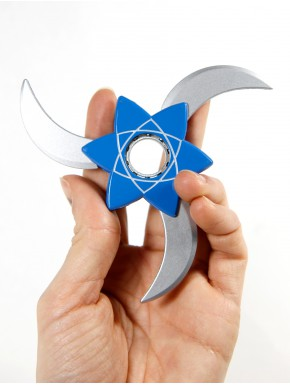 Shuriken expandible Naruto Azul 3 Puntas