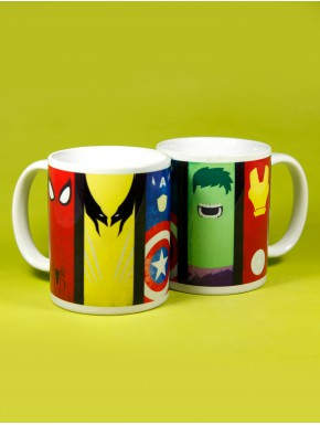 Taza Marvel Comics Superheroes