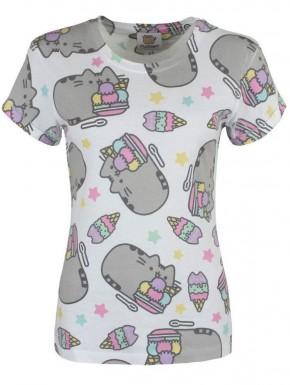 Camiseta chica Pusheen Ice Cream