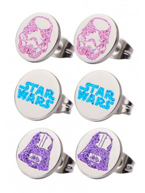 Set Pendientes 3 Pares Star Wars