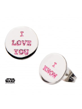 Pendientes I Love You / I Know Star Wars