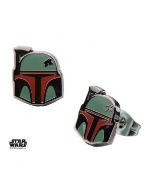 Pendientes Boba Fett Casco Star Wars