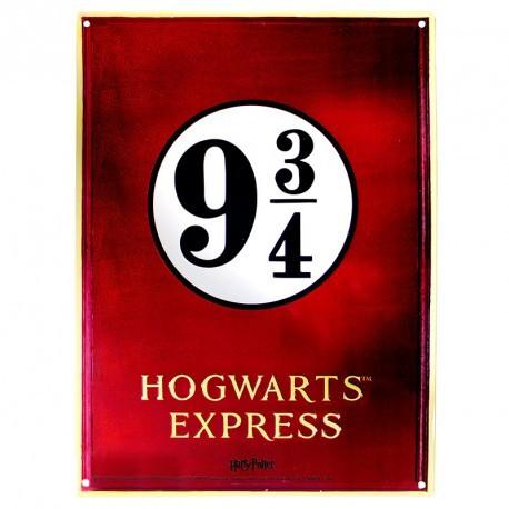 Placa Metal Hogwarts Express Harry Potter