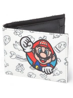 Cartera Super Mario Blanca
