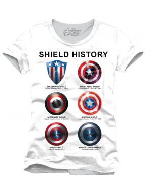 Camiseta Escudo Capitán América Historia