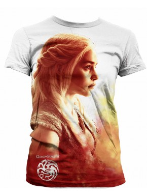 Camiseta Daenerys On Fire Chica
