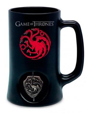 Jarra Cerveza Targaryen logo 3D