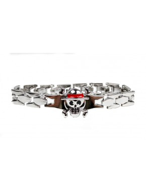 One Piece pulsera metal Luffy