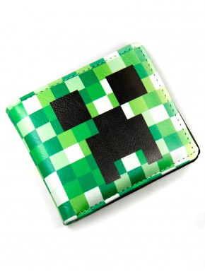 Cartera Minecraft Creeper en verde