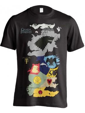 Camiseta Mapa Poniente Casas Juego de Tronos