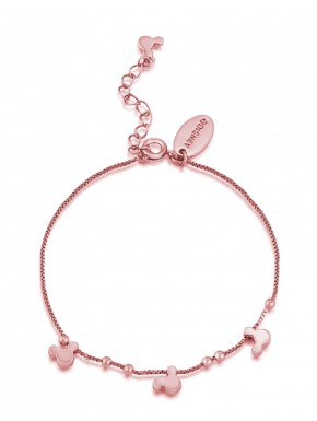 Pulsera brazalete de oro rosa Minnie Disney
