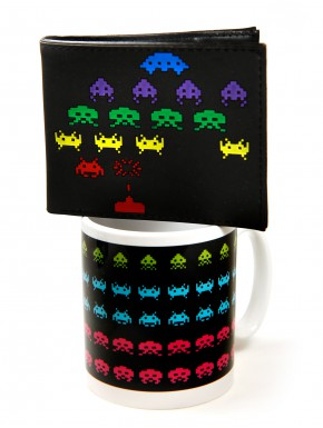 Pack Space invaders coffe & money
