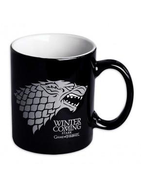 Taza Juego Tronos Stark negra