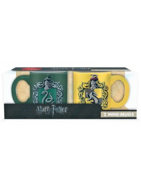 Set 2 mini tazas Slytherin y Hufflepuff Harry Potter