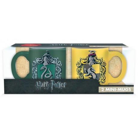 Set 2 mini tazas Slytherin y Hufflepuff Harry Potter