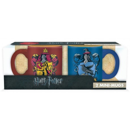 Set 2 mini tazas Gryffindor y Ravenclaw Harry Potter