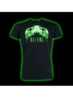 Camiseta Alien Tribal Brilla en la Oscuridad