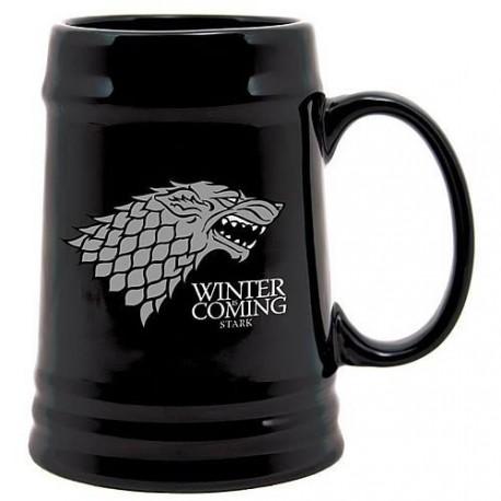 Jarra de Cerveza Targaryen negra
