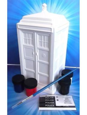 Figura Hucha cerámica Tardis para pintar Doctor Who