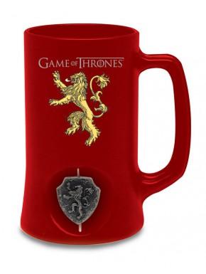 Jarra Cerveza Lannister logo 3D