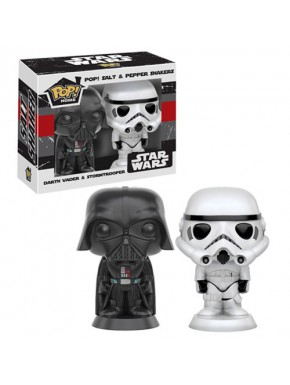 Funko Pop! Salero y pimentero Darth Vader y Stormtrooper