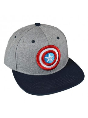 Gorra Capitán América Escudo Gris