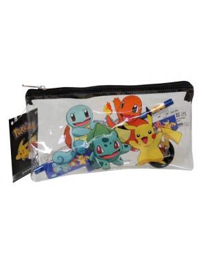 Estuche Portatodo Pokemon con Material Escolar