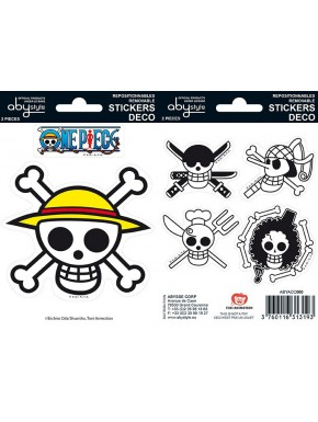 Set pegatinas One Piece x2