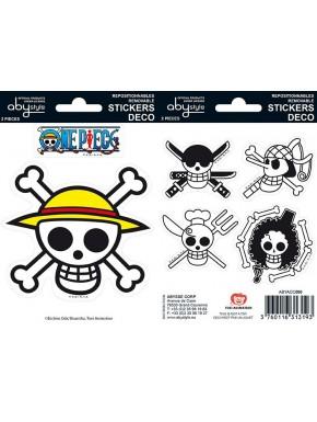 Set pegatinas One Piece x2