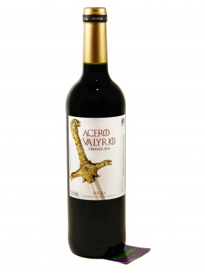 Vino de Rioja Acero Valyrio Juego de Tronos