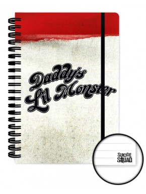 Cuaderno A5 Daddy's Little Monster Suicide Squad