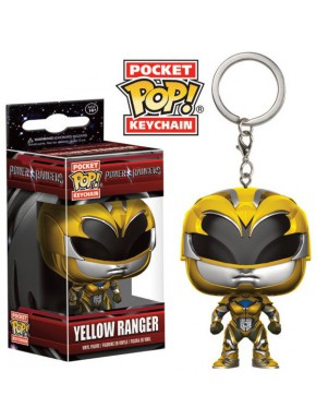Llavero mini Funko Pop! Power Rangers Amarillo versión 2017