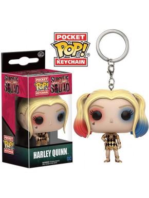 Llavero mini Funko Pop! Harley Quinn Vestido Dorado Suicide Squad