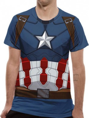 Camiseta Cosplay Capitán América Civil War