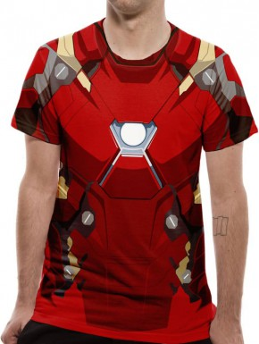 Camiseta Cosplay Iron Man Civil War