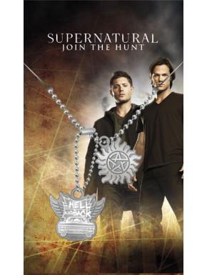 Supernatural Chapas de identificación Hell & Back