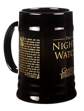Jarra de Cerveza Night's Watch