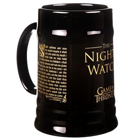 Jarra de Cerveza Night's Watch
