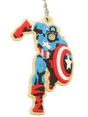 Llavero caucho Capitán América Marvel