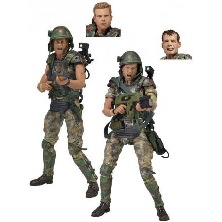 Pack 2 Figuras Articuladas Aliens Marines Coloniales