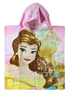 Poncho Toalla Bella y Rappunzzel Disney