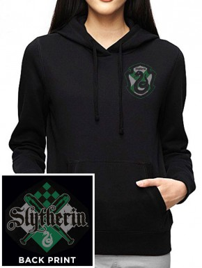 Sudadera Chica Harry Potter Slytherin con capucha