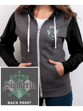 Sudadera Harry Potter Slytherin con cremallera