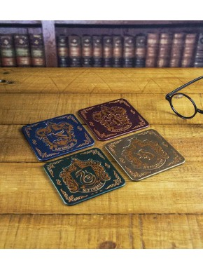 Set 4 posavasos Emblemas Harry Potter