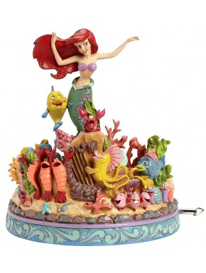 Figura con música Disney La Sirenita Jim Shore 20 cm Under The Sea