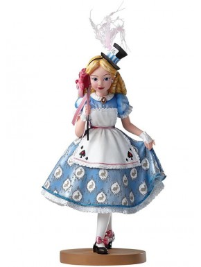 Figura Disney Showcase Alicia con Máscara Cheshire 18 cm